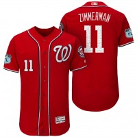 Men's Washington Nationals #11 Ryan Zimmerman 2017 Spring Training Flex Base Authentic Collection Stitched Baseball Jersey