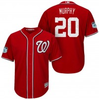 Men's Washington Nationals #20 Daniel Murphy 2017 Spring Training Cool Base Stitched MLB Jersey