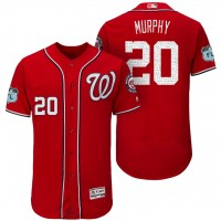 Men's Washington Nationals #20 Daniel Murphy 2017 Spring Training Flex Base Authentic Collection Stitched Baseball Jersey