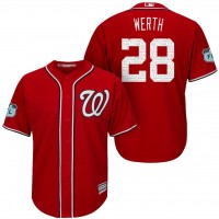 Men's Washington Nationals #28 Jayson Werth 2017 Spring Training Cool Base Stitched MLB Jersey