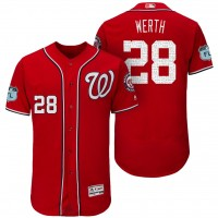 Men's Washington Nationals #28 Jayson Werth 2017 Spring Training Flex Base Authentic Collection Stitched Baseball Jersey