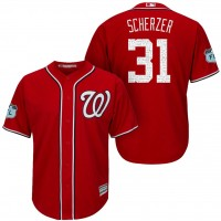Men's Washington Nationals #31 Max Scherzer 2017 Spring Training Cool Base Stitched MLB Jersey