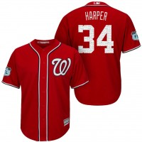 Men's Washington Nationals #34 Bryce Harper 2017 Spring Training Cool Base Stitched MLB Jersey