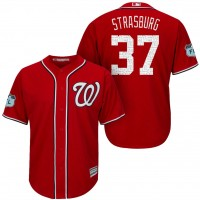 Men's Washington Nationals #37 Stephen Strasburg 2017 Spring Training Cool Base Stitched MLB Jersey