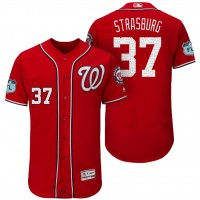 Men's Washington Nationals #37 Stephen Strasburg 2017 Spring Training Flex Base Authentic Collection Stitched Baseball Jersey