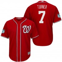 Men's Washington Nationals #7 Trea Turner 2017 Spring Training Cool Base Stitched MLB Jersey