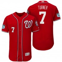 Men's Washington Nationals #7 Trea Turner 2017 Spring Training Flex Base Authentic Collection Stitched Baseball Jersey