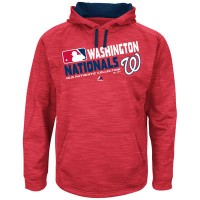 Men's Washington Nationals Authentic Collection Red Team Choice Streak Hoodie