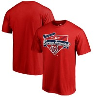 Men's Washington Nationals Fanatics Branded Red 2017 MLB Spring Training Logo T-Shirt