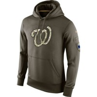 Men's Washington Nationals Nike Olive Salute To Service KO Performance Hoodie