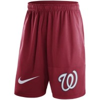 Men's Washington Nationals Nike Red Dry Fly Shorts