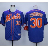 Mets #30 Michael Conforto Blue Alternate Home Cool Base Stitched Baseball Jersey