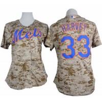 Mets #33 Matt Harvey Camo Women's Fashion Stitched Baseball Jersey