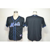 Mets Blank Black Alternate Cool Base Stitched Baseball Jersey