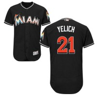 Miami Marlins #21 Christian Yelich Black Flexbase Authentic Collection Stitched MLB Jersey
