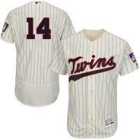 Minnesota Twins #14 Kent Hrbek Cream Strip Flexbase Authentic Collection Stitched MLB Jersey