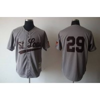 Mitchell And Ness 1953 Browns #29 Satchel Paige Grey Stitched Baseball Jersey
