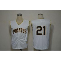 Mitchell And Ness 1960 Pirates #21 Roberto Clemente White Stitched Baseball Jersey