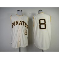 Mitchell And Ness 1960 Pirates #8 Willie Stargell Cream Throwback Stitched Baseball Jersey