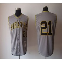 Mitchell And Ness 1962 Pirates #21 Roberto Clemente Grey Stitched Baseball Jersey