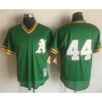 Mitchell And Ness 1987 Oakland Athletics #44 Reggie Jackson Green Throwback Stitched MLB Jersey