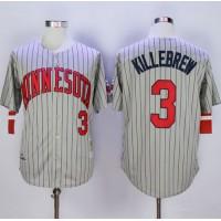 Mitchell And Ness 1987 Twins #3 Harmon Killebrew Grey Throwback Stitched Baseball Jersey