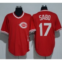 Mitchell And Ness 1990 Cincinnati Reds #17 Chris Sabo Red Throwback Stitched MLB Jersey