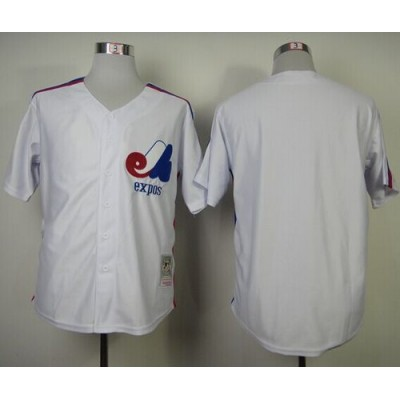 the best attitude a475e d105c Mitchell And Ness Expos Blank White Throwback Stitched ...