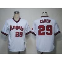 Mitchell and Ness Angels of Anaheim #29 Rod Carew White Stitched Baseball Jersey