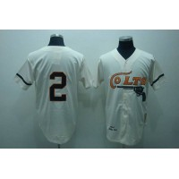 Mitchell and Ness Colts #2 Fox Stitched Cream Throwback Baseball Jersey