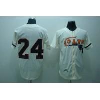 Mitchell and Ness Colts #24 Jimmy Wynn Stitched Cream Throwback Baseball Jersey