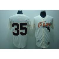 Mitchell and Ness Colts #35 Joe Morgan Stitched Cream Throwback Baseball Jersey