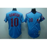 Mitchell and Ness Expos #10 Andre Dawson Stitched Blue Throwback Baseball Jersey