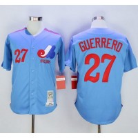 Mitchell and Ness Expos #27 Vladimir Guerrero Blue Stitched Baseball Jersey