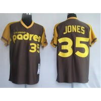 Mitchell and Ness Padres #35 Randy Jones Coffee Stitched Throwback Baseball Jersey