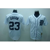 Mitchell and Ness Tigers #23 Kirk Gibson Stitched White Throwback Baseball Jersey