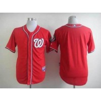Nationals Blank Red Cool Base Stitched Baseball Jersey