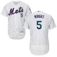 New York Mets #5 David Wright White(Blue Strip) Flexbase Authentic Collection Stitched MLB Jersey