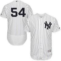 New York Yankees #54 Aroldis Chapman White Strip Flexbase Authentic Collection Stitched MLB Jersey