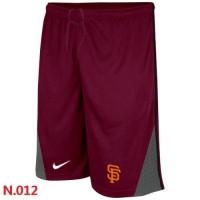 Nike Baseball San Francisco Giants Performance Training Shorts Red