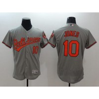 Orioles #10 Adam Jones Grey Flexbase Authentic Collection Stitched Baseball Jersey