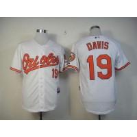 Orioles #19 Chris Davis White Cool Base Stitched Baseball Jersey