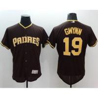 Padres #19 Tony Gwynn Brown Flexbase Authentic Collection Stitched Baseball Jersey