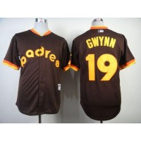 Padres #19 Tony Gwynn Coffee 1984 Turn Back The Clock Stitched Baseball Jersey