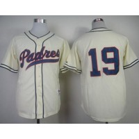 Padres #19 Tony Gwynn Cream 1948 Turn Back The Clock Stitched Baseball Jersey