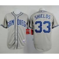 Padres #33 James Shields Grey Cool Base Stitched Baseball Jersey