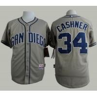 Padres #34 Andrew Cashner Grey Cool Base Stitched Baseball Jersey