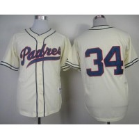 Padres #34 Rollie Fingers Cream 1948 Turn Back The Clock Stitched Baseball Jersey
