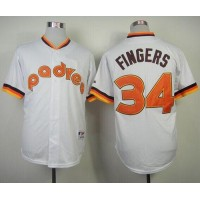 Padres #34 Rollie Fingers White 1984 Turn Back The Clock Stitched Baseball Jersey