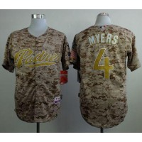 Padres #4 Wil Myers Camo Alternate 2 Cool Base Stitched Baseball Jersey